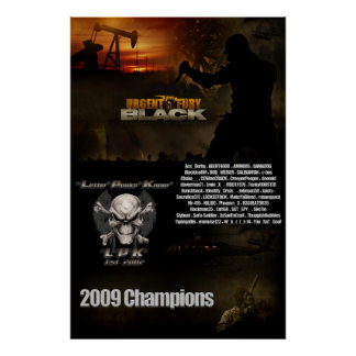 UF Black Championship Poster