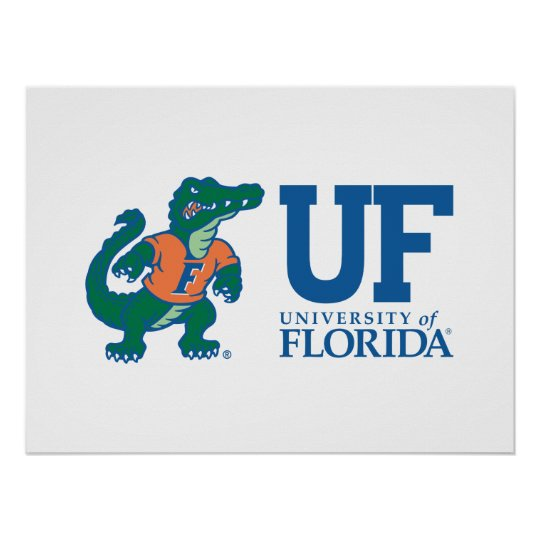 UF Blue with Albert Poster