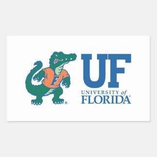 UF Blue with Albert Rectangular Sticker