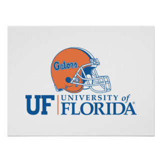 UF Florida Gators Helmet | Right Poster