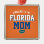 UF Orange and Blue Gator Family Metal Ornament