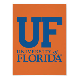 UF University of Florida Logo Poster