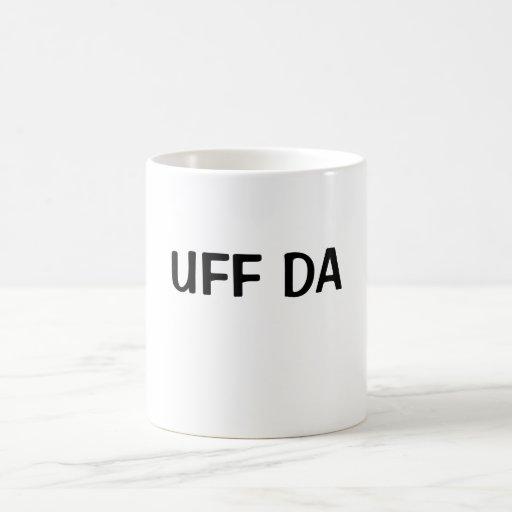 UFF DA CLASSIC WHITE COFFEE MUG