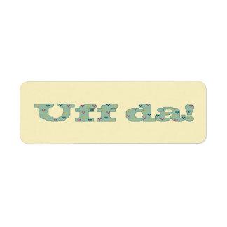 ¡Uff DA! Etiquetas autoadhesivas Etiqueta De Remitente