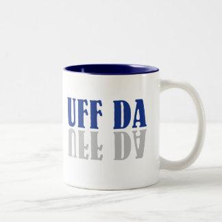 UFF DA Funny Scandinavian Swedish Norwegian Two-Tone Coffee Mug