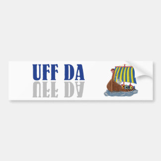 UFF DA Funny Scandinavian Viking Bumper Sticker