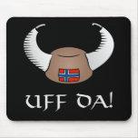 ¡Uff DA! Gorra de Viking Alfombrillas De Ratones