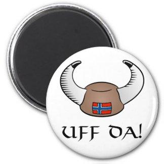 ¡Uff DA! Gorra de Viking Imán De Frigorífico
