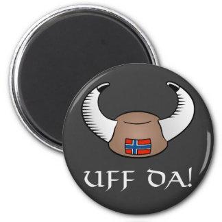 ¡Uff DA! Gorra de Viking Imán Redondo 5 Cm