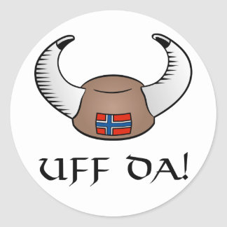 ¡Uff DA! Gorra de Viking Pegatinas Redondas