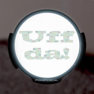 Uff da! LED car window decal