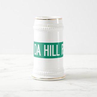 Uff Da Hill Road, Street Sign, Washington, US Beer Stein