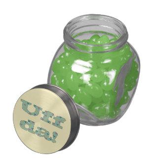 Uff da! jelly belly candy jar