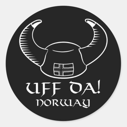 ¡Uff DA! Noruega Etiquetas Redondas
