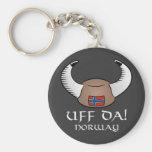 Uff Da! Norway Basic Round Button Keychain