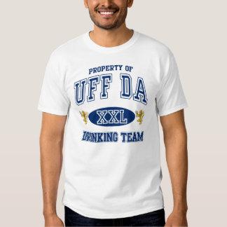 Uff Da Norwegian Drinking Team Tshirts
