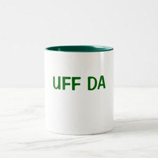 UFF DA Two-Tone COFFEE MUG