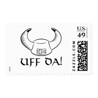 Uff Da! Viking Hat Postage Stamp
