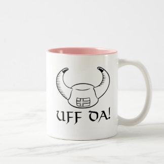 Uff Da! Viking Hat Two-Tone Coffee Mug