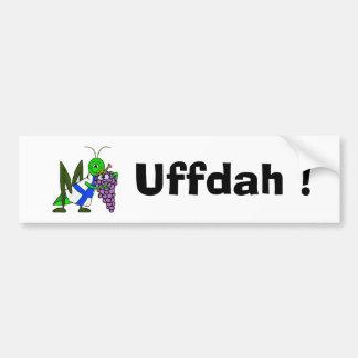 UFFDAH  St. Urho Bumper Sticker with Love