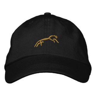 Uffington horse embroidered hat