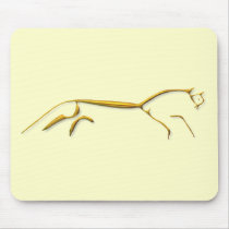 Uffington Horse gold mousepad