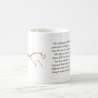 Uffington Horse gold, mug Basic White Mug