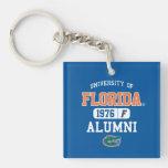 UFL Blue and Orange Alumni Logo Square Acrylic Keychain