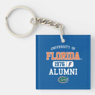 UFL Blue and Orange Alumni Logo Single-Sided Square Acrylic Keychain