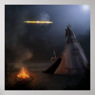 UFO - 24x24 Surreal Fantasy Art Poster Print