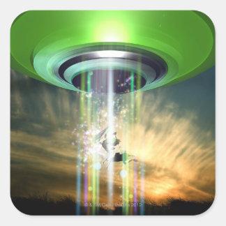 UFO 2 PEGATINA CUADRADA