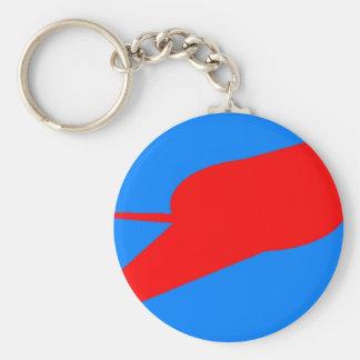 UFO!  A logo or design depicting a UFO sighting Keychain