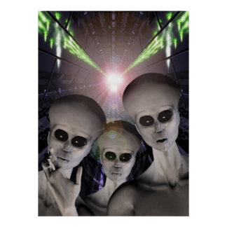 UFO abducted Poster