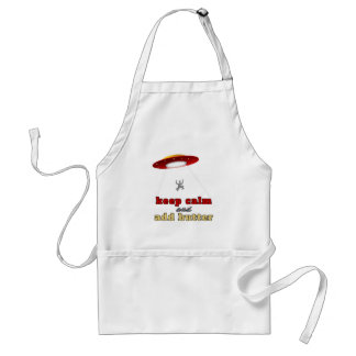 UFO abduction: Keep calm and add butter Adult Apron