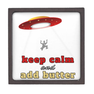 UFO abduction: Keep calm and add butter Premium Gift Box