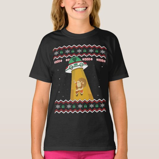 UFO Abducts Santa Claus Ugly Christmas Sweater