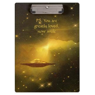 UFO alien galaxies space Clipboard