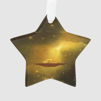 UFO alien galaxies space Ornament