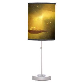 UFO alien galaxies space Table Lamp