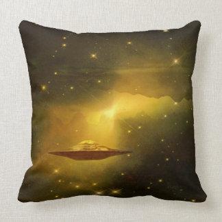 UFO alien galaxies space Throw Pillow