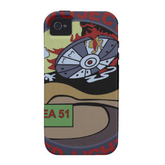 UFO ALIEN PROJECT RED LIGHT PATCH iPhone 4 COVER