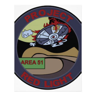 UFO ALIEN PROJECT RED LIGHT PATCH LETTERHEAD