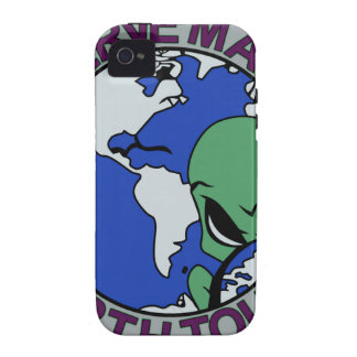 UFO ALIEN SERVE MAN EARTH TOURS 5 PATCH Case-Mate iPhone 4 COVER