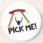 UFO Alien Ship - Pick Me! Drink Coaster