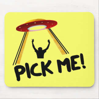 UFO Alien Ship - Pick Me! Mouse Pad