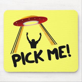 UFO Alien Ship - Pick Me! Mouse Pad