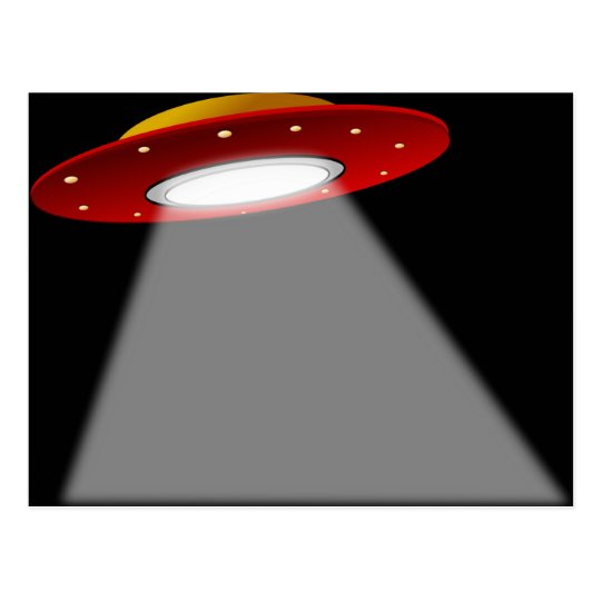 UFO - Alien Spaceship Postcard