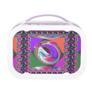 UFO ALIEN WHEEL CHAKRA :  Graphics Lunch Box