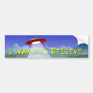 UFO Aliens Saucer decal I Want To Believe Car Bumper Sticker