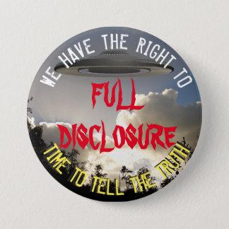UFO and Alien Full Disclosure Button
